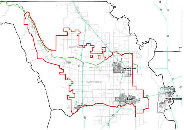 Yolo County Flood Control & Water Conservation District Boundary Map